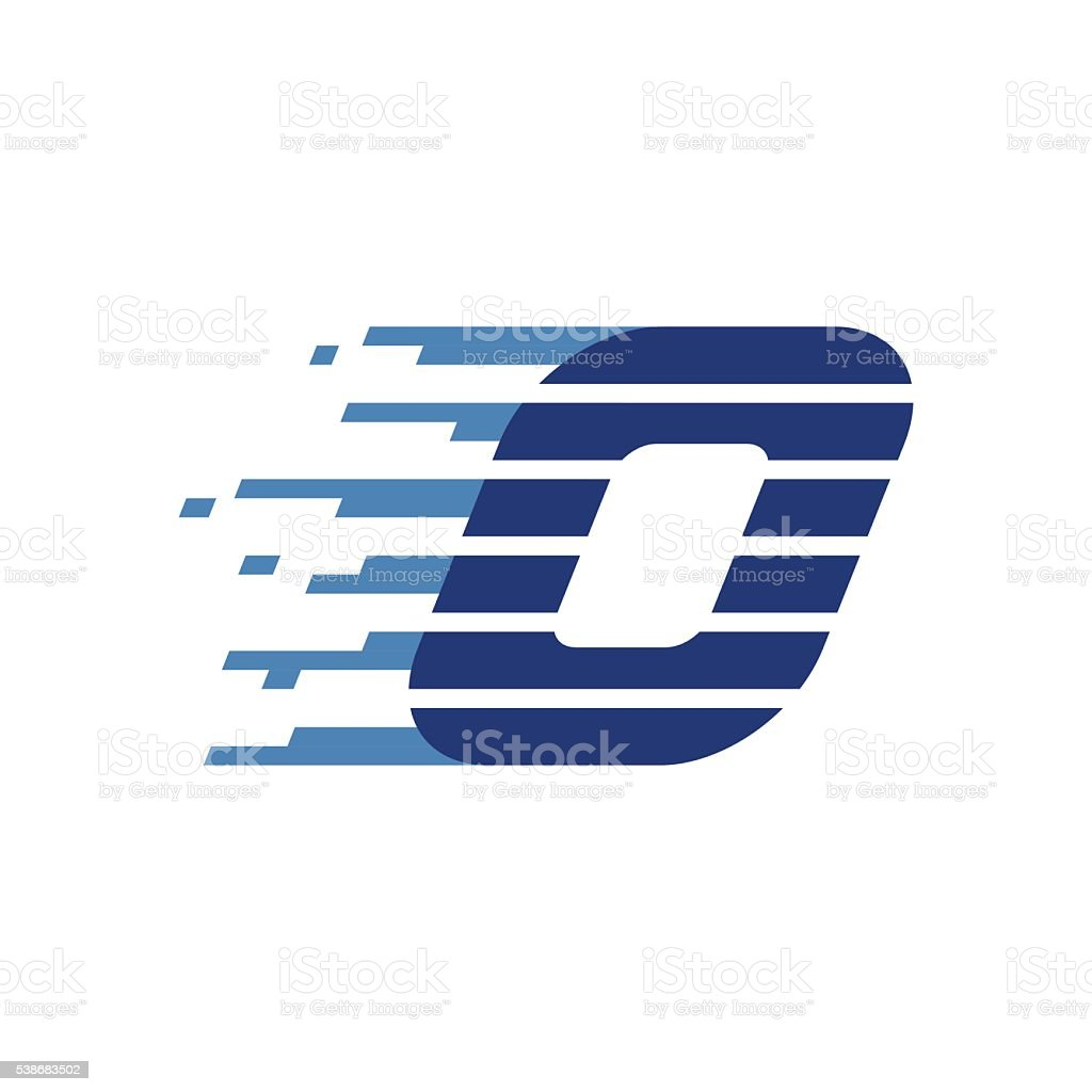 Number zero icon. Number with fast speed lines. vector art illustration