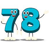 Number Seventy Eight - Cartoon Vector Image