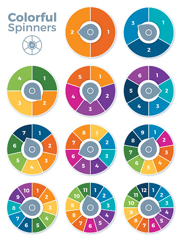 Numbered Spinner Templates