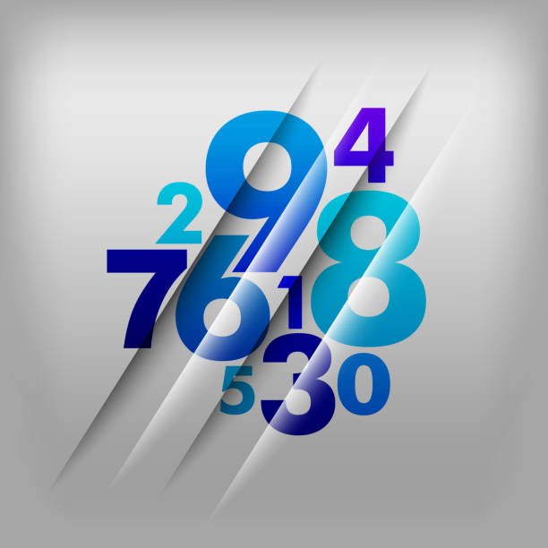 Numbers Background vector art illustration
