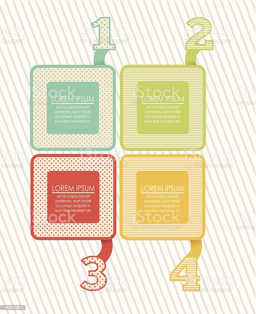 Numbers Brochure royalty-free stock vector art