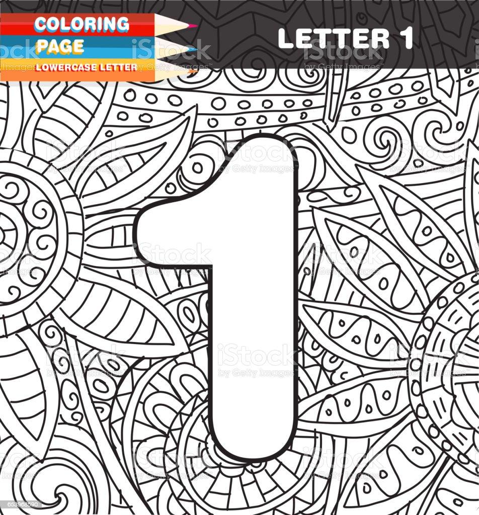 Doodle Para Colorear Los Números De Página - Arte vectorial de stock ...