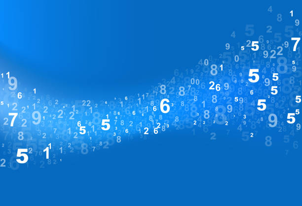 numbers curve flow flowing numbers data background alphabet backgrounds stock illustrations