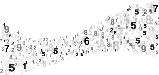 numbers curve - dane finansowe stock illustrations