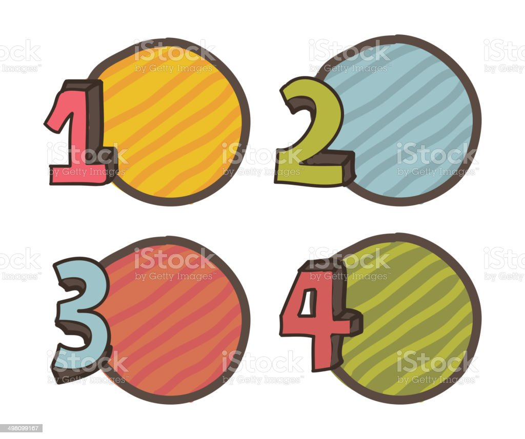 numbers drawing royalty-free stock vector art