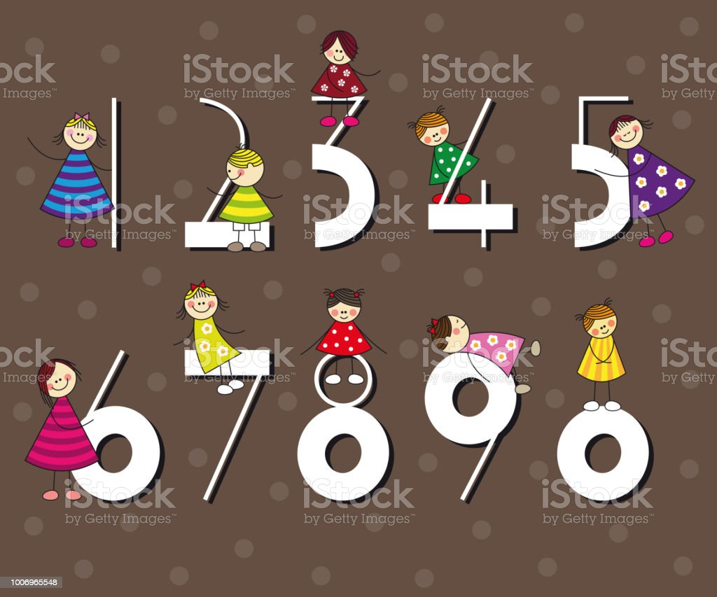 Numbers Funny Number Collection Ideal For Birthday Cards