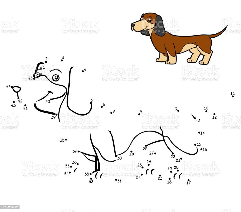 Ilustración de Juego De Números Perro Razas Dachshund y más banco de ...