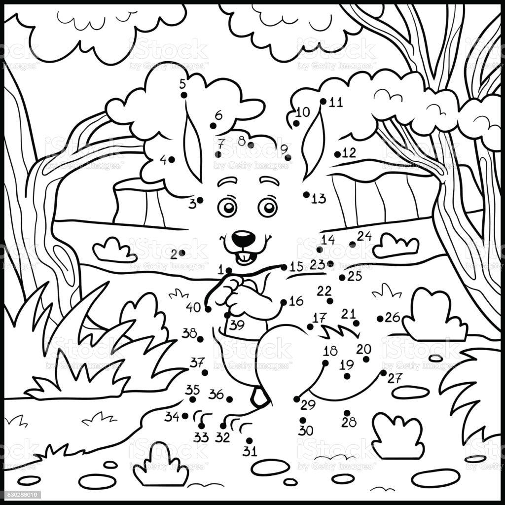 Zahlenspiel Bildung Spiel Für Kinder Känguru Und Hintergrund Stock ...