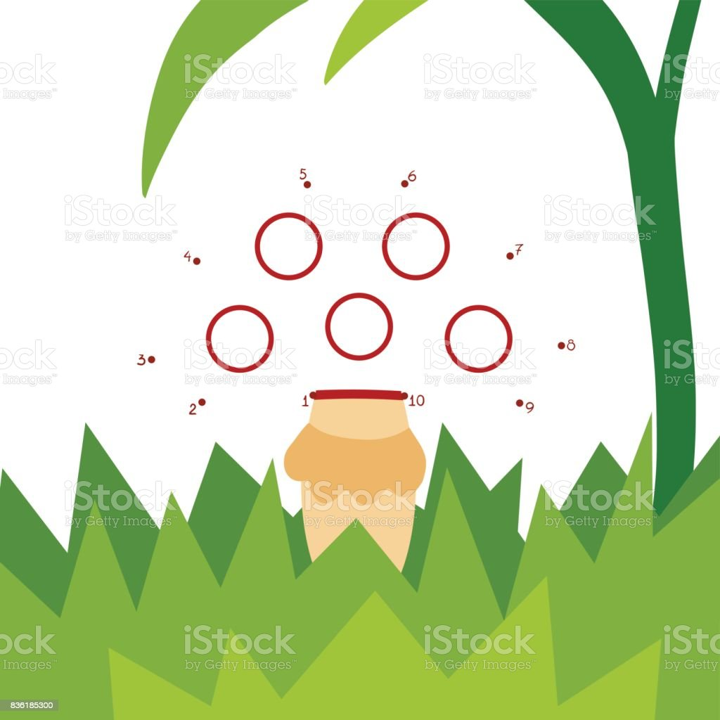 Numbers Game For Children Amanita Mushroom stock vector art ...
