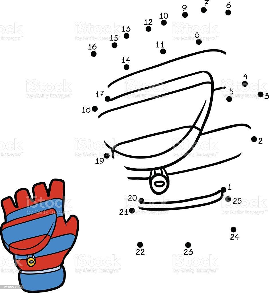 Números De Juegos Para Niños Con Rayas Mitón - Arte vectorial de ...