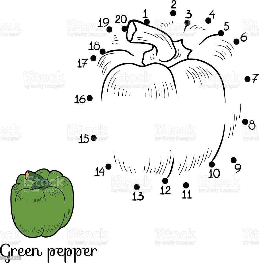 Nummern Spiel Obst Und Gemuse Paprika Stock Vektor Art Und Mehr