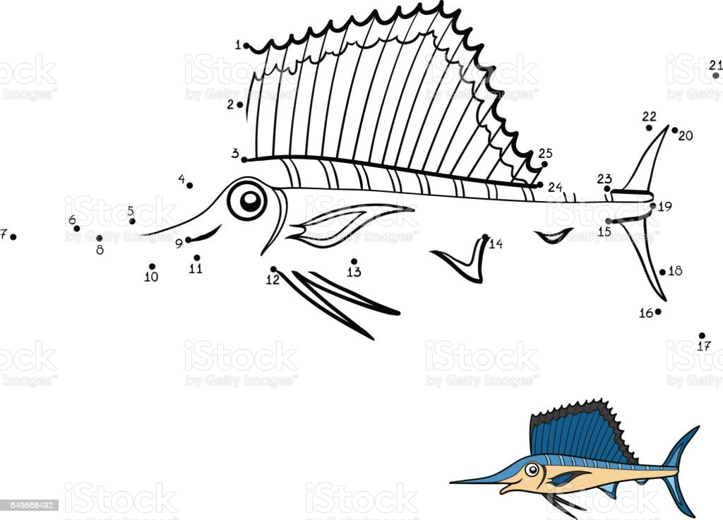 Numbers Game Sailfish Stock Illustration - Download Image Now - iStock
