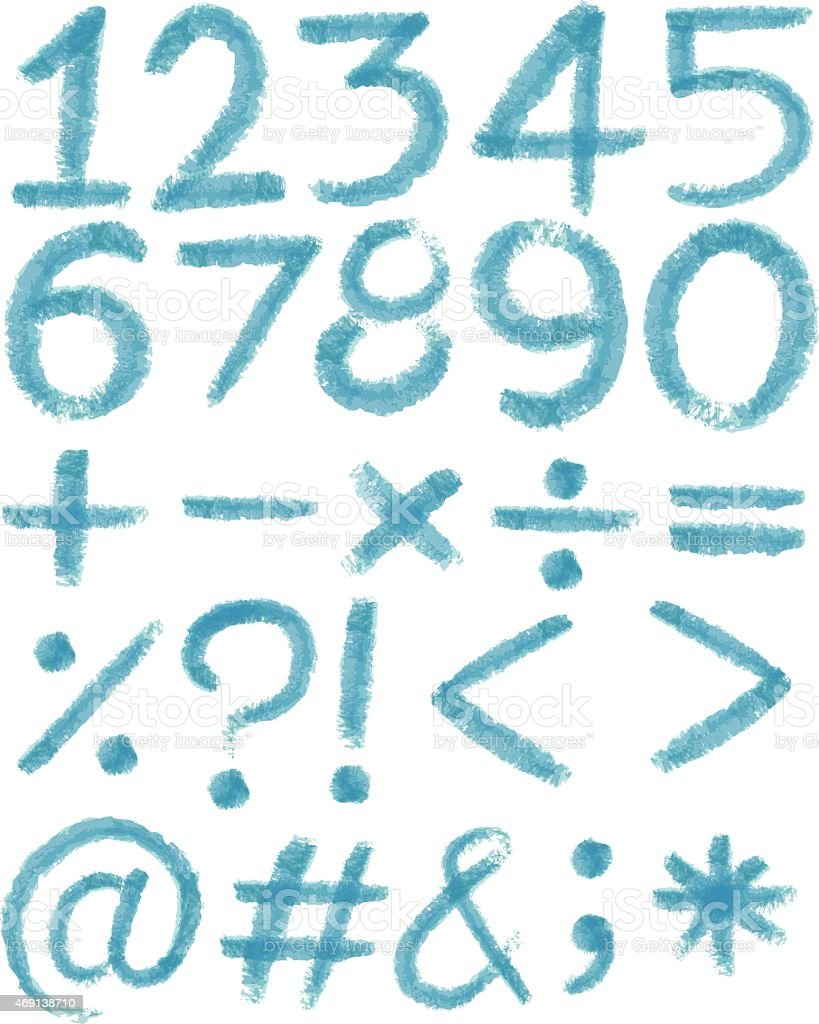Numbers In Blue Colors Stock Vector Art & More Images of 2015 ...