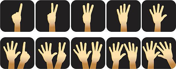Best Ten Fingers Illustrations, Royalty-Free Vector