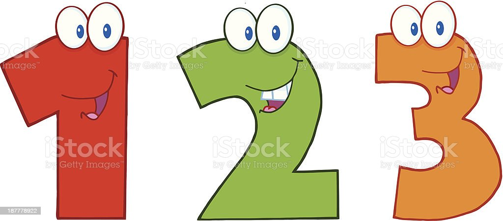 Numbers Onetwo And Three Stock Illustration
