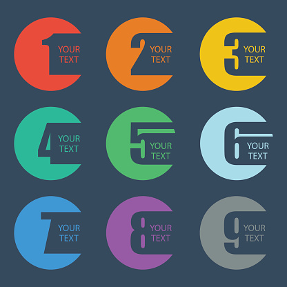 Numbers Set Design Vector Illustration-vektorgrafik och fler bilder på 2015