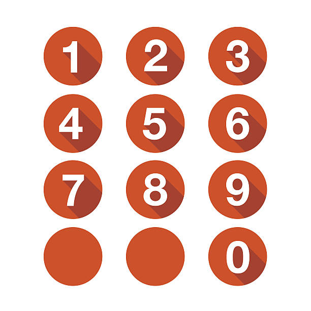 stockillustraties, clipart, cartoons en iconen met numbers set. vector button - getal