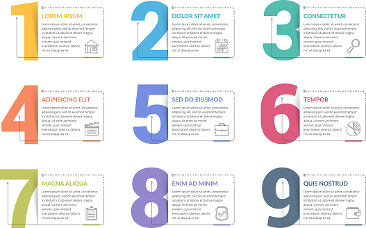 list infographics stock illustrations