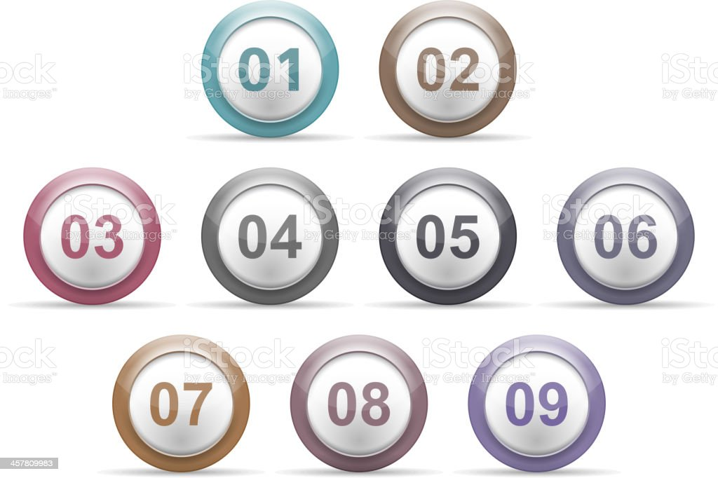Numbers royalty-free numbers stock vector art & more images of badge