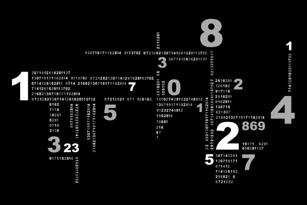 Numerical abstract digital background mathematical formula stock illustrations
