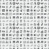 seamless music pattern - vector illustration