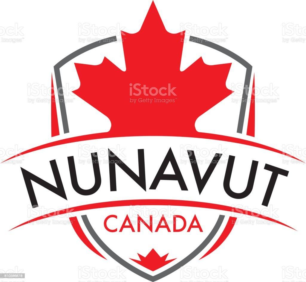 Nunavut Crest vector art illustration