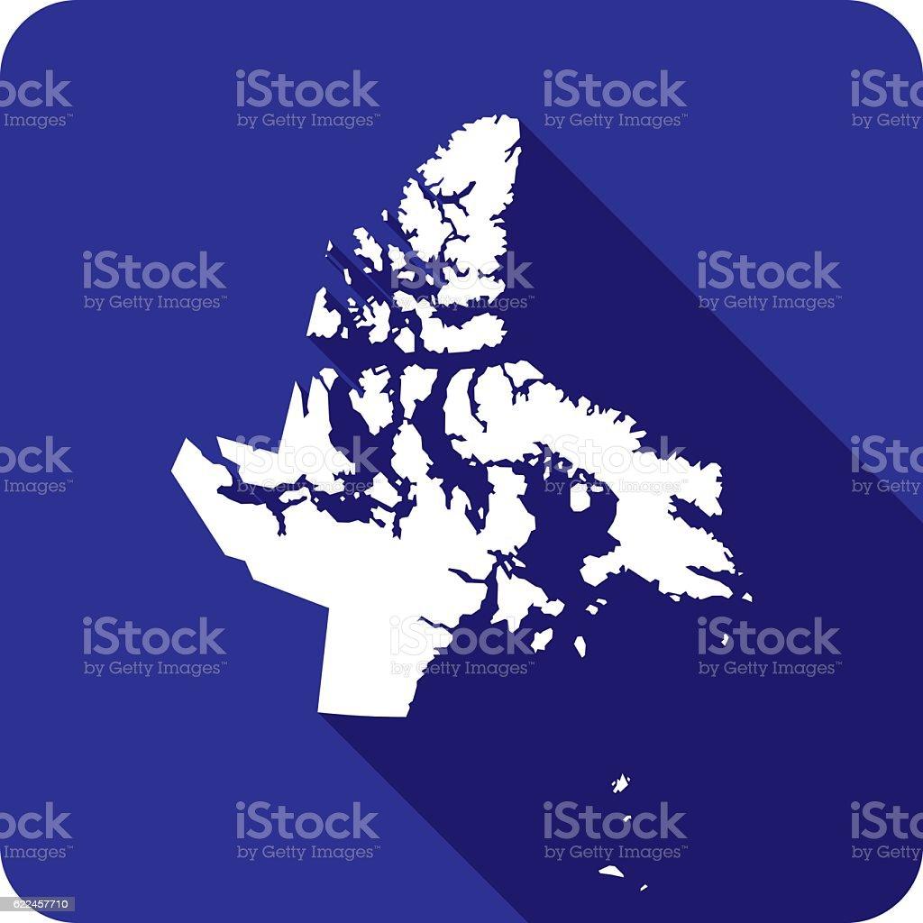 Nunavut Icon Silhouette vector art illustration