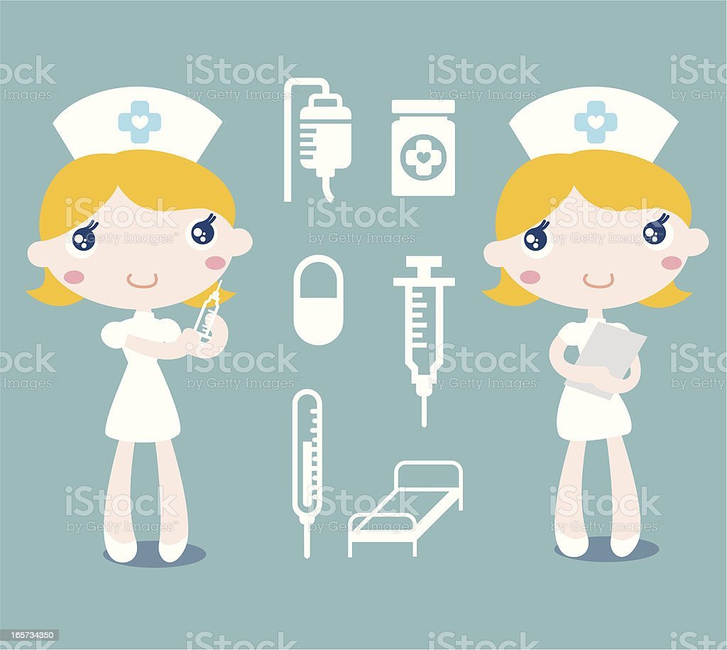 Nurse and related icons royalty-free stock vector art