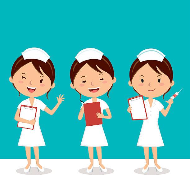 ilustrações, clipart, desenhos animados e ícones de enfermeira no trabalho - enfermeira