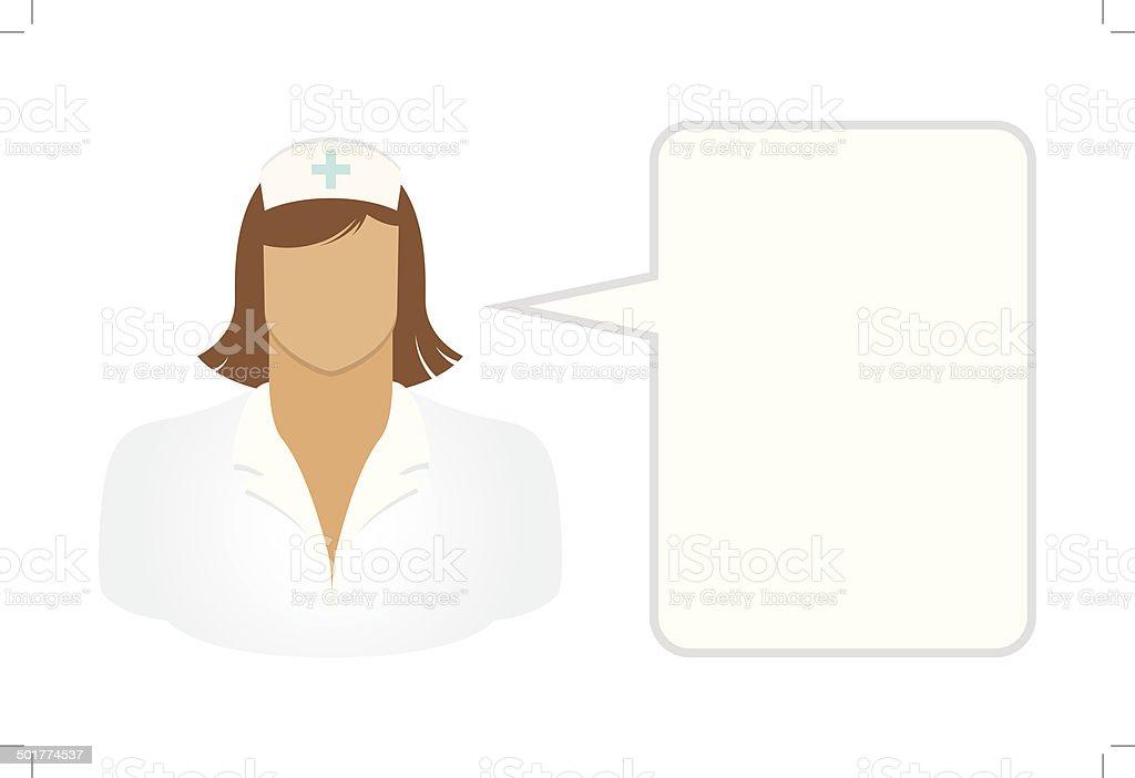 Nurse - Avatars and User Icons vector art illustration