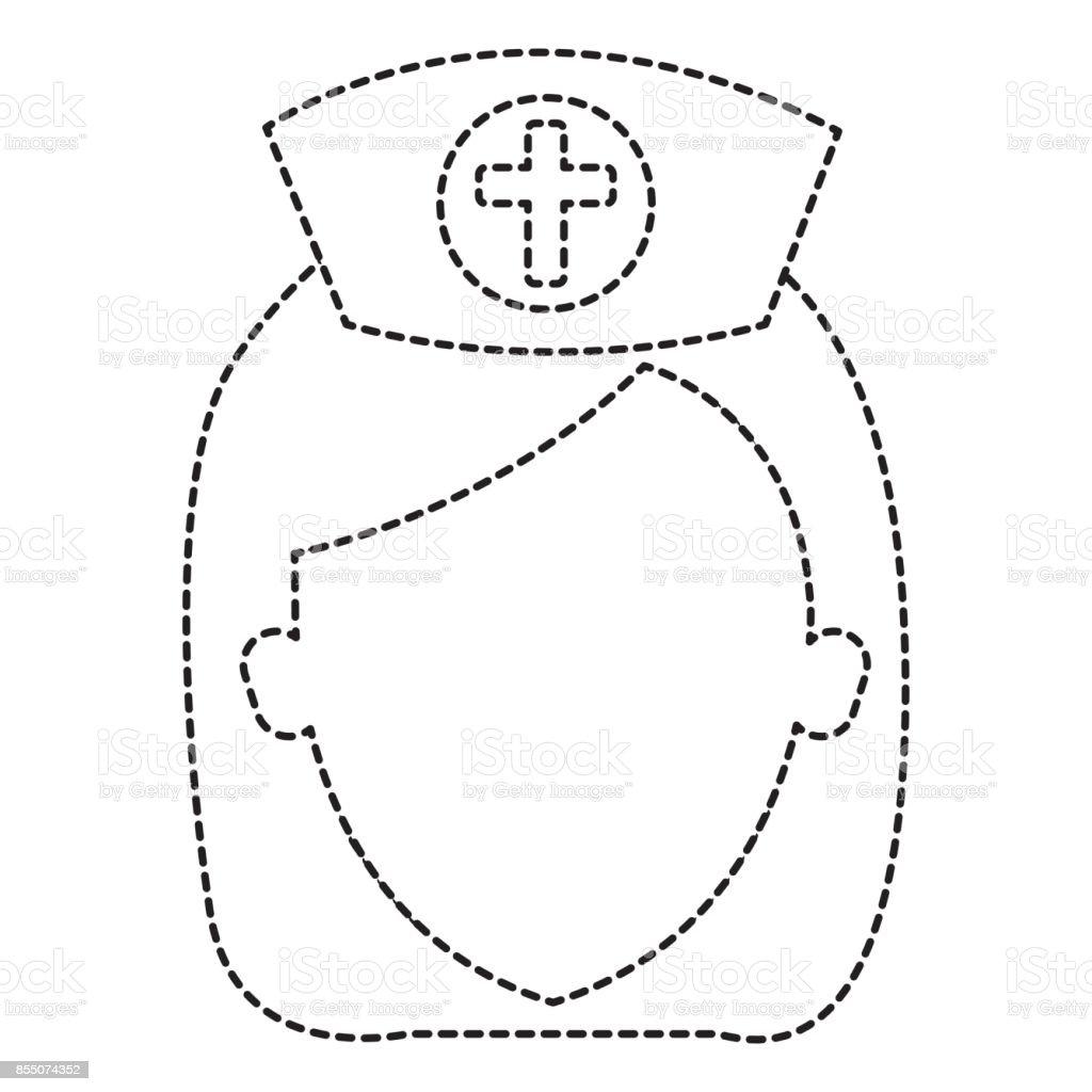 schöne Avatar Charakter Krankenschwester – Vektorgrafik