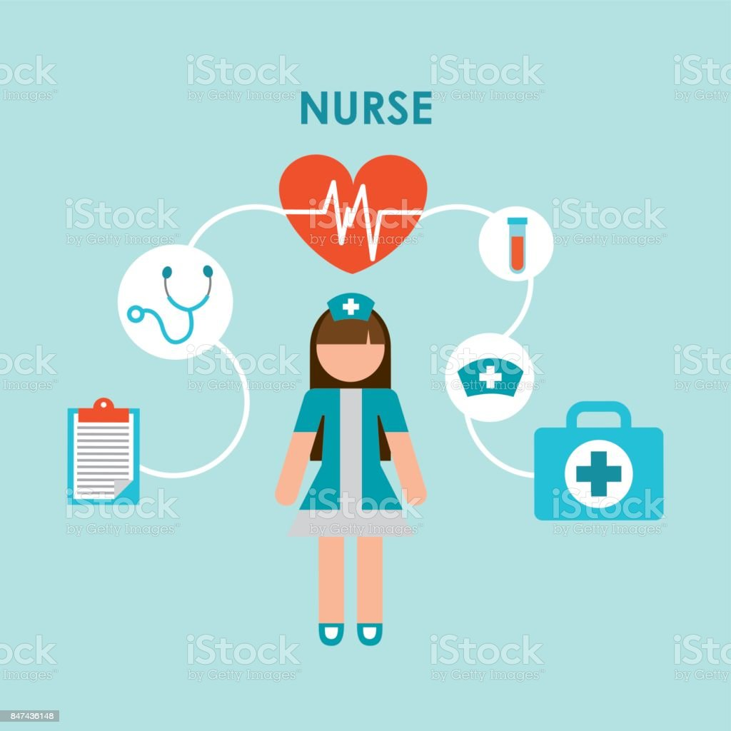 Krankenschwester design – Vektorgrafik