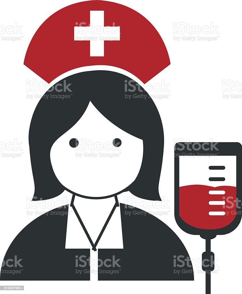 Nurse, Doctor icons flat vector illustration design – Vektorgrafik