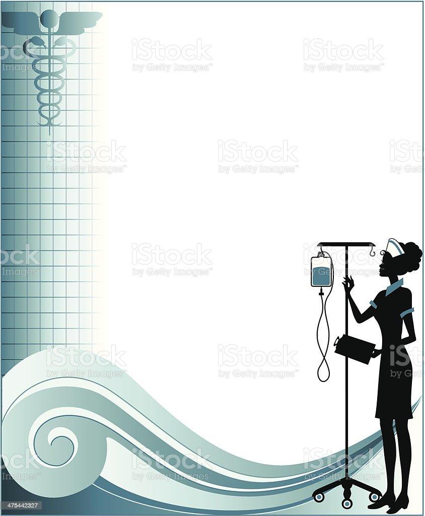 Nurse Frame C vector art illustration