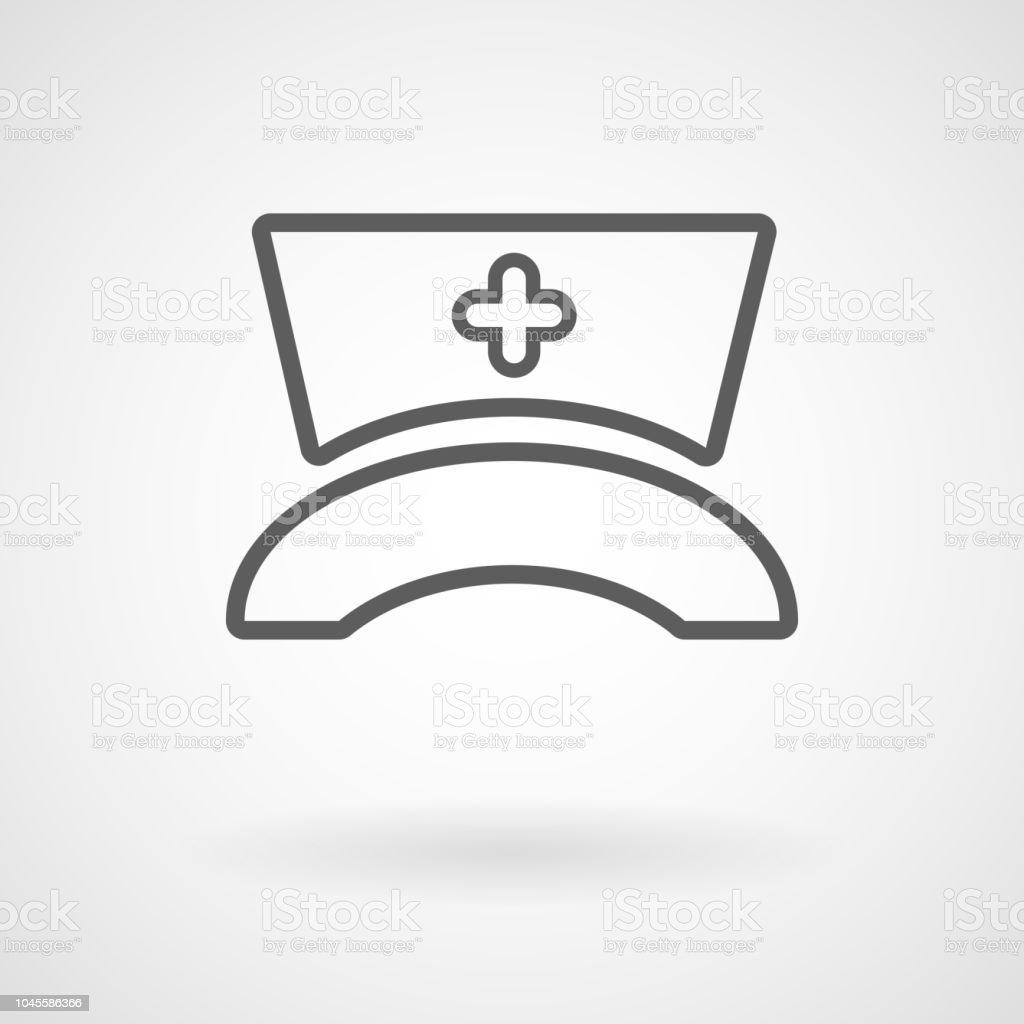 Krankenschwester-Hut-Symbol, Vektor – Vektorgrafik