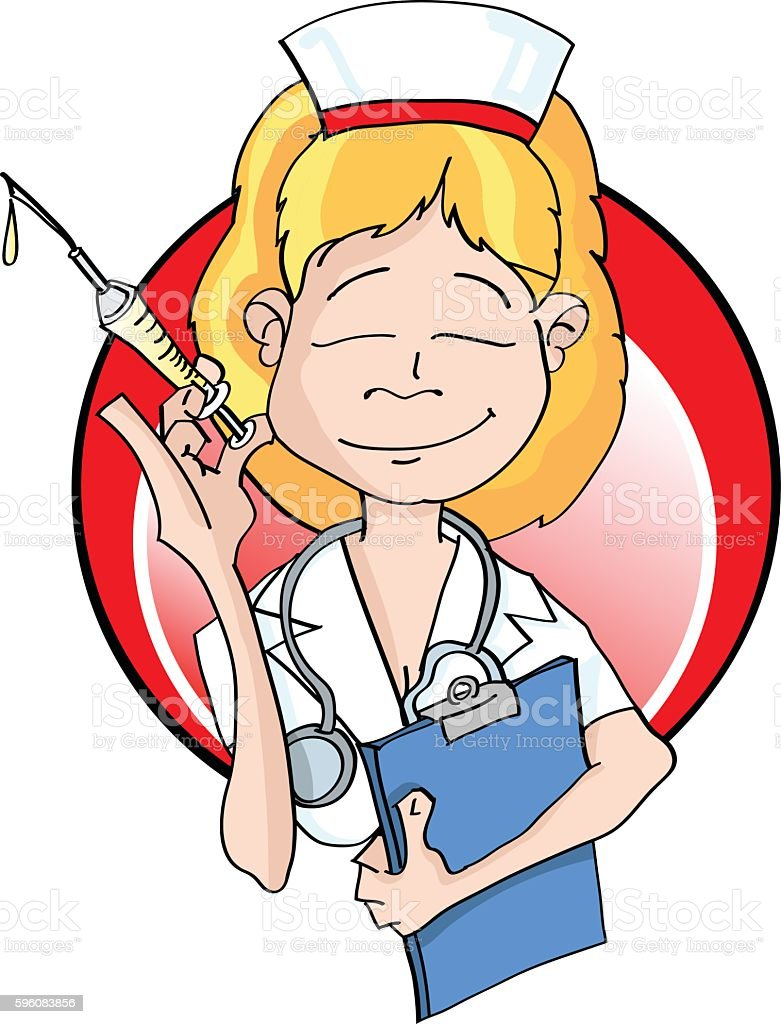 Nurse holding a clipboard and syringe and stethoscope royalty-free nurse holding a clipboard and syringe and stethoscope stock vector art & more images of adult