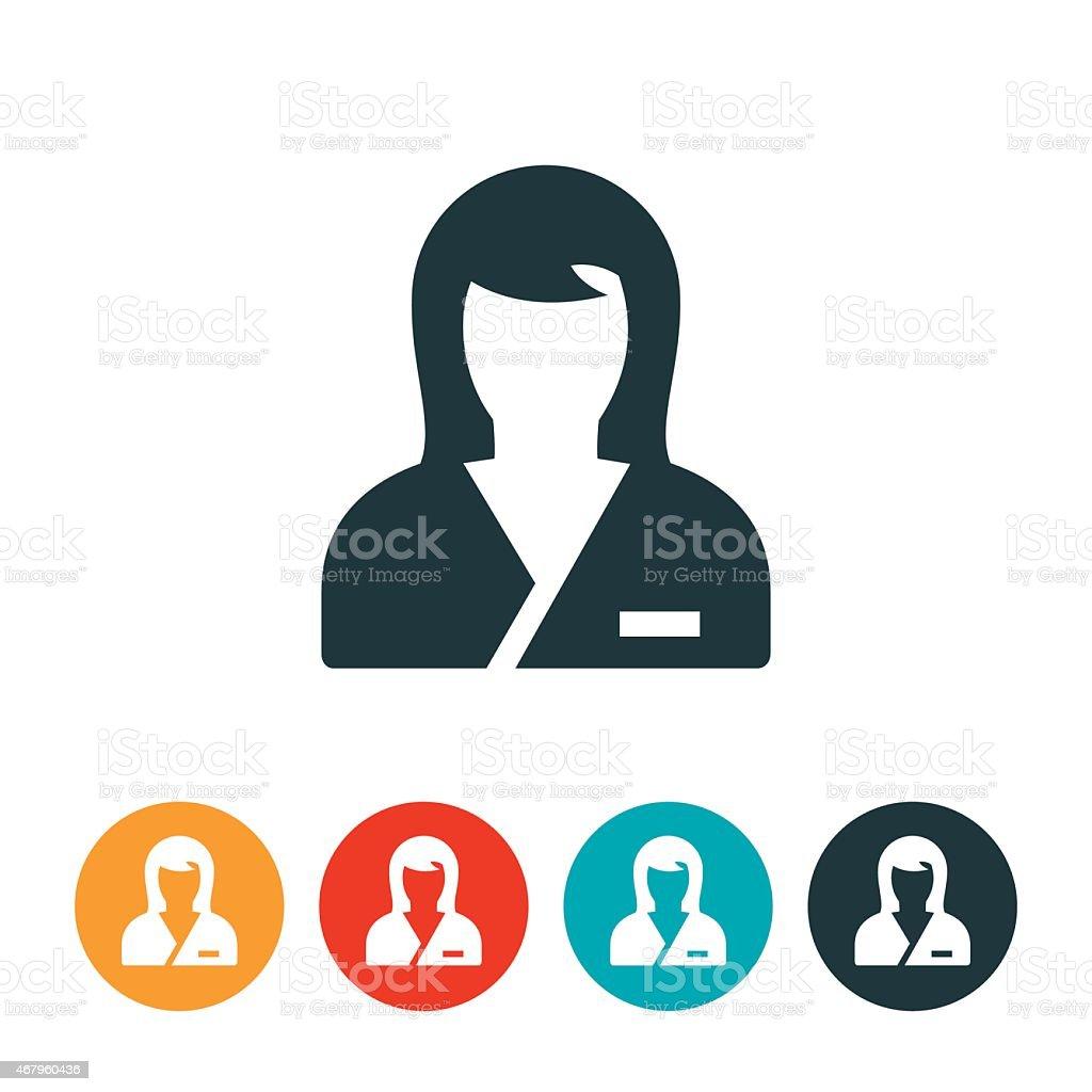 Nurse Icon vector art illustration