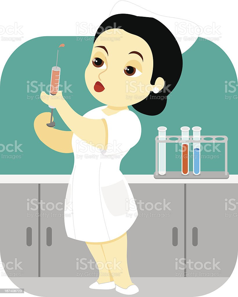 Nurse in the Lab royalty-free stock vector art