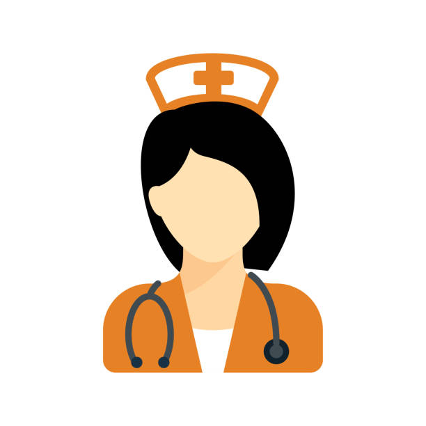 Nurse Vector Icon nursing blue clipart stock illustrations