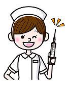 Illustration of a nurse with syringe