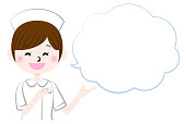 Illustration of  pharmacist with speech bubble