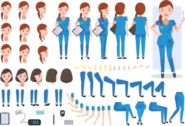 ilustrações, clipart, desenhos animados e ícones de enfermeira - enfermeira
