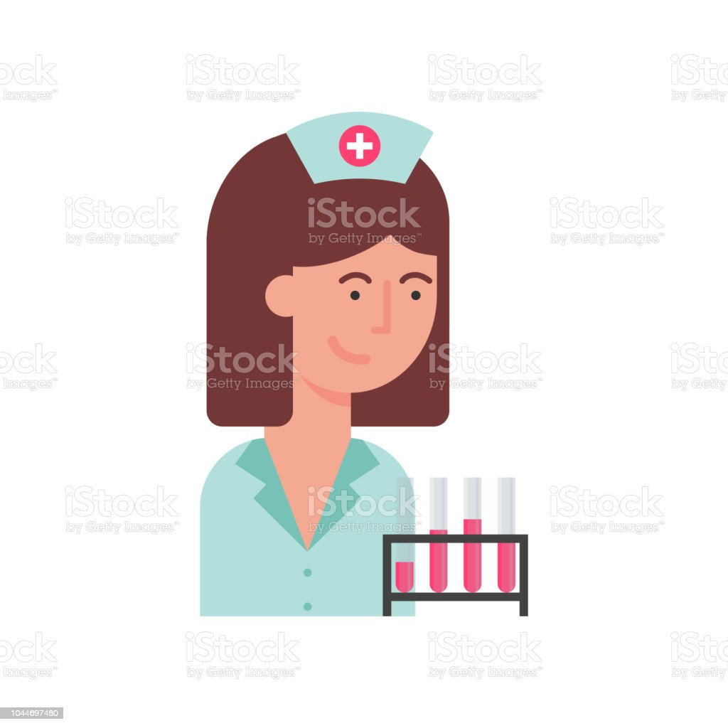 Krankenschwester-Vektor-illustration – Vektorgrafik