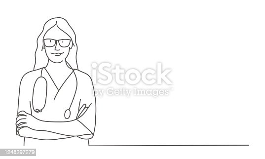 istock Nurse with arms crossed 1248297279