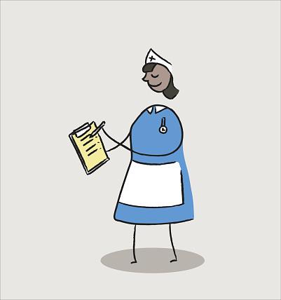 Nurse with patient notes
