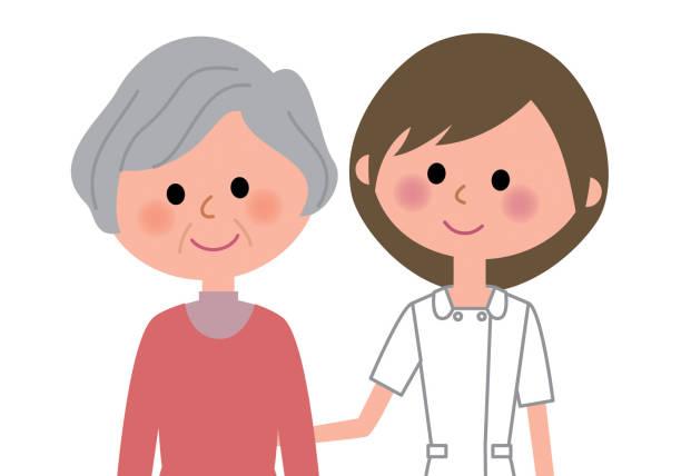 看護師、患者 - 看護師点のイラスト素材/クリップアート素材/マンガ素材/アイコン素材