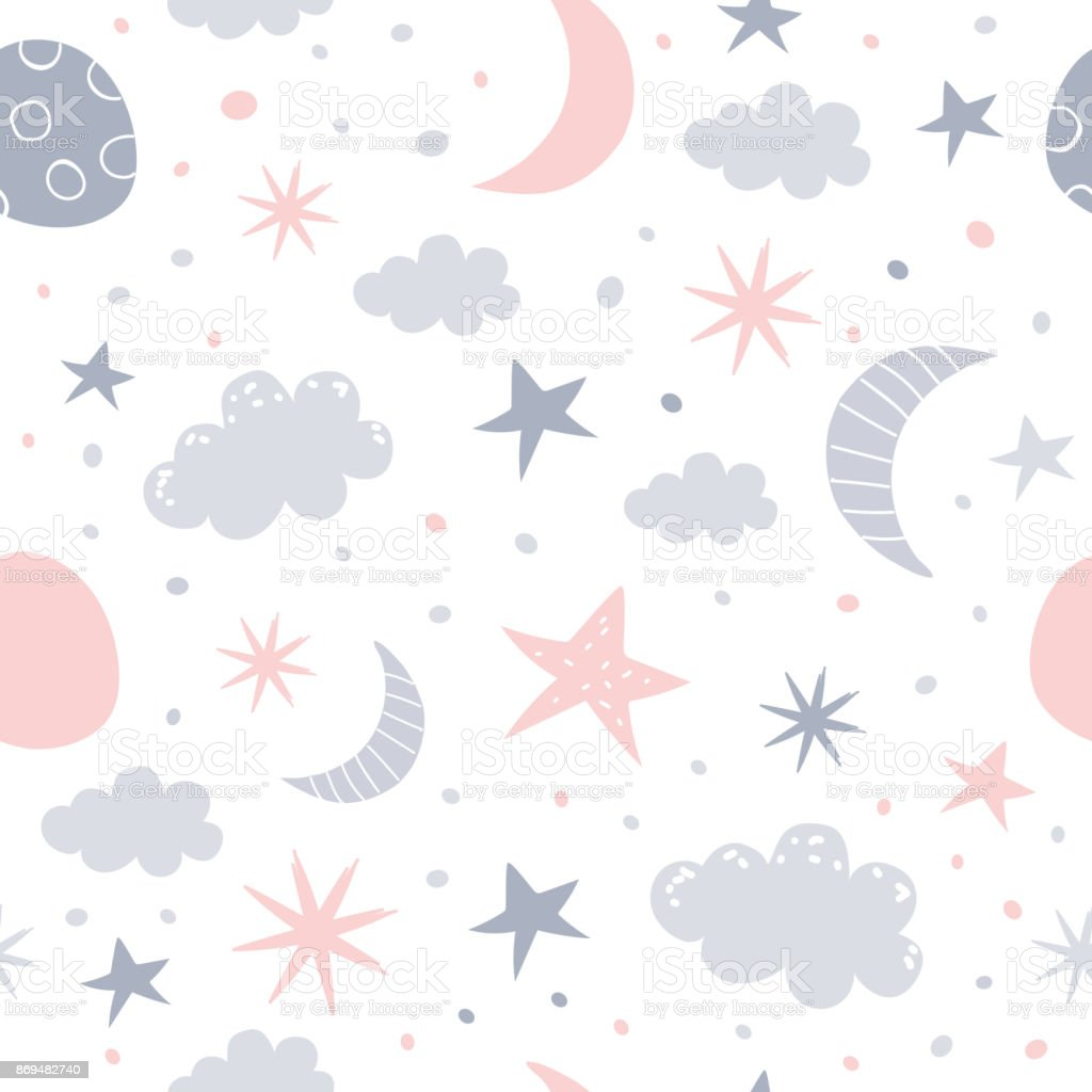 nursery pattern vector art illustration