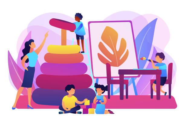 保育園コンセプトベクトルイラスト - 保育点のイラスト素材/クリップアート素材/マンガ素材/アイコン素材