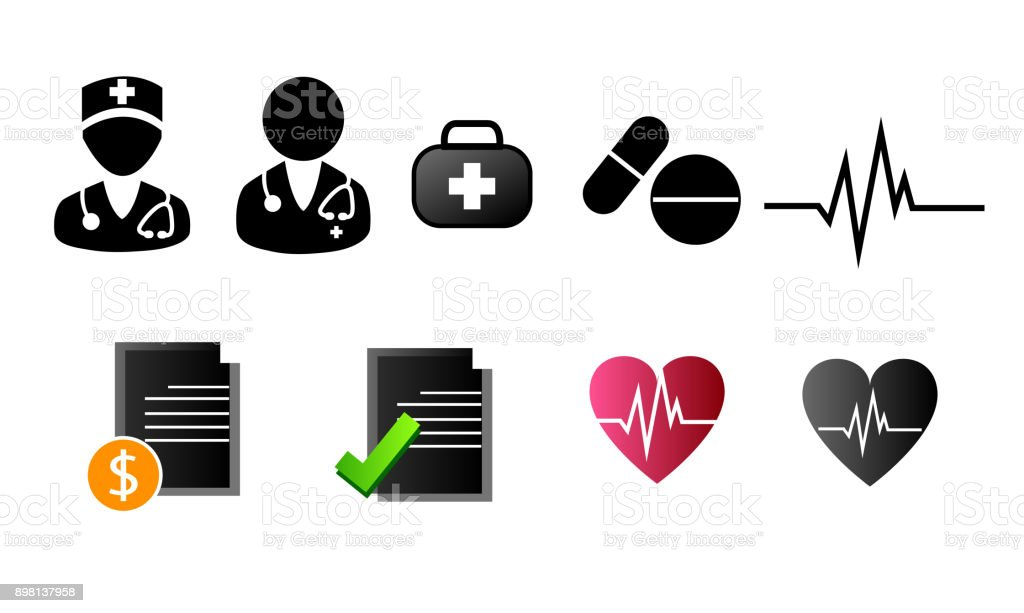 Nursing Doctor Symbol Icon Medical Icons On White Background Stock