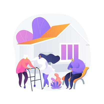 Nursing home abstract concept vector illustration.